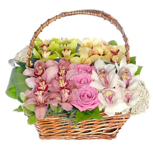 Купить в Харькове Корзина Орхидея №37