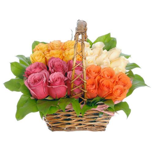 Купить в Харькове Корзина роз №39