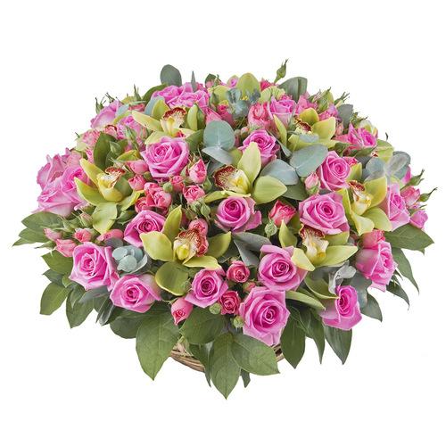 Купить в Харькове Корзина роз №69