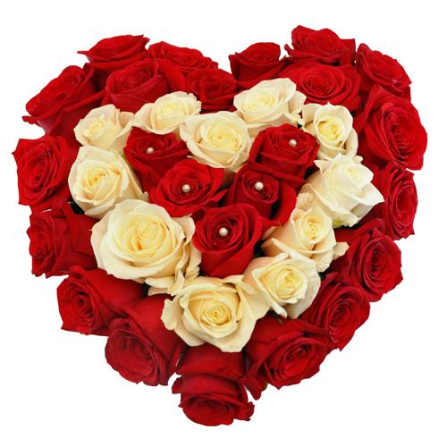 Купить в Харькове Сердце роз №10