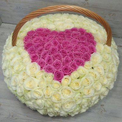 Купить в Харькове Сердце цветов №40