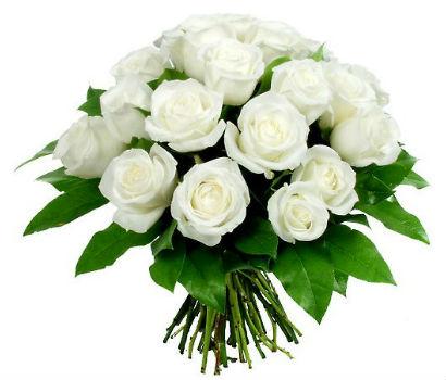 Купить в Харькове Букет белых роз №15