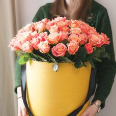 Коробка роз №78