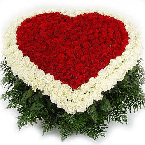 Купить в Харькове Сердце роз №45