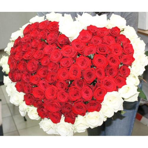 Купить в Харькове Сердце роз №54