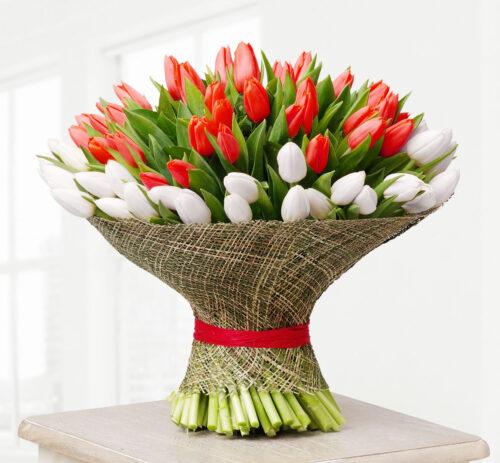 Купить в Харькове Букет-микс 101 тюльпан