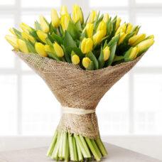 Букет желтые тюльпаны №2