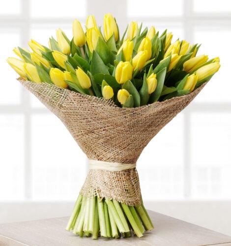 Купить в Харькове Букет желтые тюльпаны №2