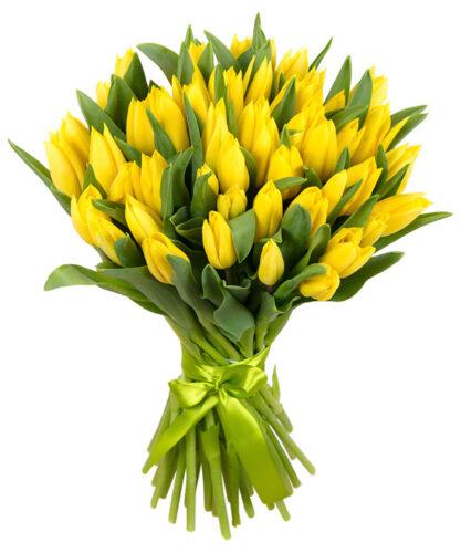 Купить в Харькове Букет Тюльпанов желтых