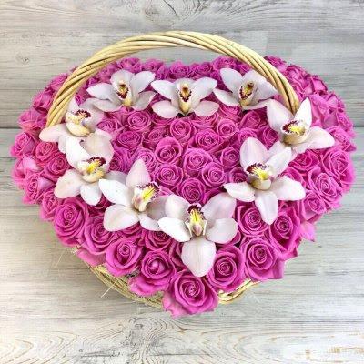 Купить в Харькове Сердце роз №88