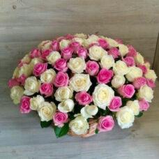 Корзина роз №93