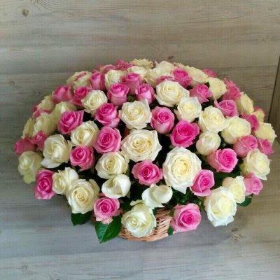 Купить в Харькове Корзина роз №93