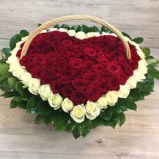 Сердце роз №103