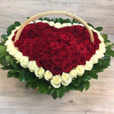Купить в Харькове Сердце роз №103