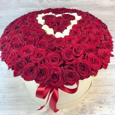 Купить в Харькове Сердце роз №114
