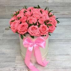Коробка роз №128