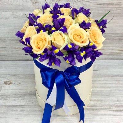 Купить в Харькове Коробка роз №129