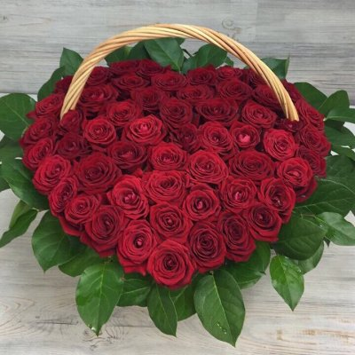 Купить в Харькове Корзина роз №94