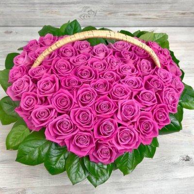 Купить в Харькове Корзина роз №100