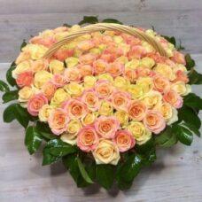 Корзина роз №107
