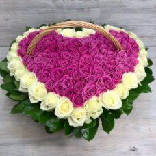 Корзина роз №106