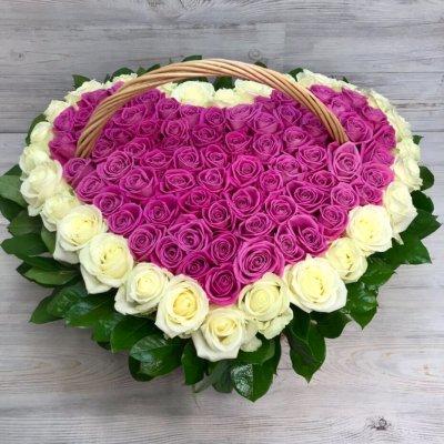 Купить в Харькове Корзина роз №106