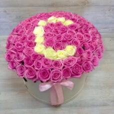 Коробка роз №89