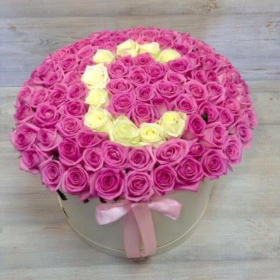 Купить в Харькове Коробка роз №89
