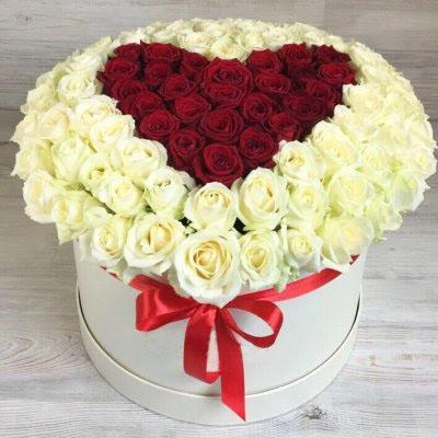 Купить в Харькове Сердце роз №95
