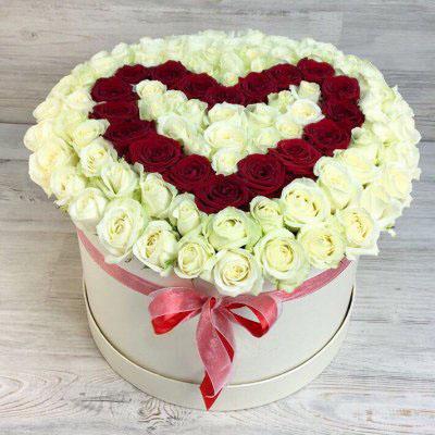 Купить в Харькове Сердце роз №96